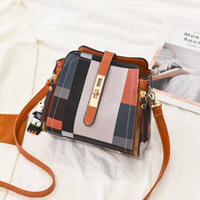 Load image into Gallery viewer, Luxury Handbags Women Bags Clutch Purse High Quality Casual Female Bag Plaid PU Leather Crossbody Messenger Bags Designer