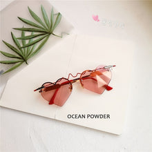 Load image into Gallery viewer, New Fashion Heart Shape Sunglasses Women 2019 Gothic Bullet ECG Glasses High Quality Silver Mirror Gafas de sol mujer
