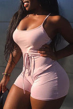 Load image into Gallery viewer, 2019 Women Short Sling High Waist Jumpsuit Beach Playsuit Party Club Sexy Summer Soild Sleeveless Bangdage Backless Rompers