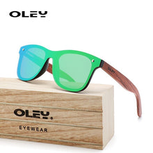 Load image into Gallery viewer, OLEY Natural Wooden Sunglasses Men Polarized Fashion Sun Glasses Original Wood High-end wooden box Accept custom logo