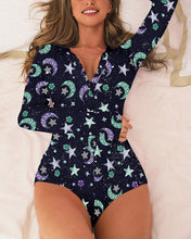 Load image into Gallery viewer, 2020 Women's Lady Sexy Romper Bodycon Casual Jumpsuit Romper Long Sleeve Shorts Leotard Home Wear Tracksuit Playsuit Pajama