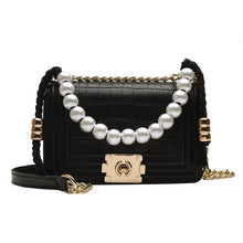 Load image into Gallery viewer, High Quality Small Women Pu Leather Shoulder Bag Fashion Designer Pearl Female Messenger Bags Luxury Women Purses and Handbags