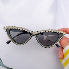 Load image into Gallery viewer, Fashion Cat Eye Sunglasses Women 2020 High Quality Luxury Rhinestone Sun Glasses Shades For Women Brand Design eyeglasses Uv400