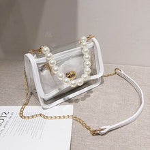 Load image into Gallery viewer, Transparent Jelly Pearl Tote bag 2020 Fashion New High-quality PVC Women's Designer Handbag Chain Shoulder Messenger Bag Purses