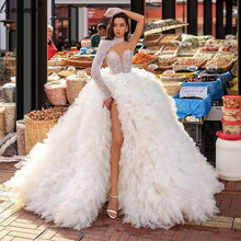 Load image into Gallery viewer, Gorgeous Pearls Celebrity Dresses A-Line One Shoulder Evening Dresses Women Party Night Dubai Red Carpet Runaway Dresses Robes