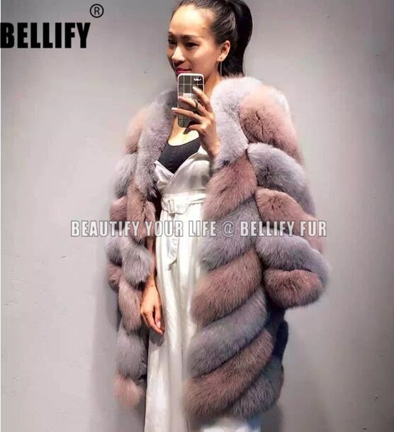 Streetwear Twisted  Design Brand natural  Fur coats  lovely French Style elegant stunning Fur long trench  outerwear