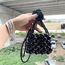 Load image into Gallery viewer, Handmade High-quality Crystal Glass Chain Beaded Woven Crossbody Compact Bag Ins Temperament Summer Lipstick Coin Purse
