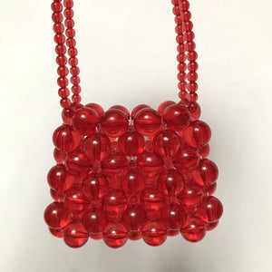 Handmade High-quality Crystal Glass Chain Beaded Woven Crossbody Compact Bag Ins Temperament Summer Lipstick Coin Purse