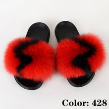 Load image into Gallery viewer, Fluffy Slipper Woman Summer Furry Slides Ladies Fashion Luxury Fur Sandals Designer Shoes Women Big Size Wholesale Drop Shipping
