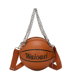 Fahsion Mini Basketball Shape Bag Women Purse 2020 New High Quality PU Leather Hand Bag Female Crossbody Bags Brand Designer Bag