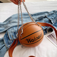Load image into Gallery viewer, Fahsion Mini Basketball Shape Bag Women Purse 2020 New High Quality PU Leather Hand Bag Female Crossbody Bags Brand Designer Bag