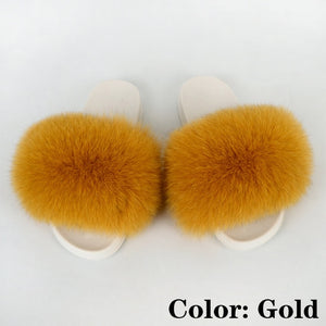 Fur Slides Women Fluffy Sandals Summer Woman Shoes Flat Plush Furry Slippers House Fuzzy Flip Flops Luxury 2020 Wholesale Mujer