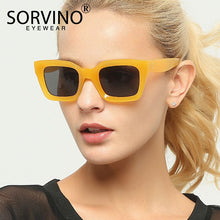 Load image into Gallery viewer, SORVINO Retro High Quality Square Sunglasses Women Fashion 2020 Modern Designer Bold Thick Frame Sun Glasses Clear Shades SP11