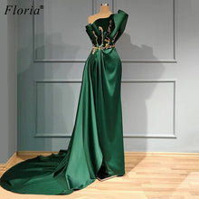 Load image into Gallery viewer, Green Elegant Celebrity Dresses Long Strapless Red Carpet Runaway Dress Women Party Night Sexy Evening Gowns Abiti Da Cerimonia