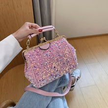 Load image into Gallery viewer, Fashion Sequins High Quality PU Leather Crossbody Bags For Women 2020 Summer  Shoulder Handbags And Purses Lady Cross Body Bag