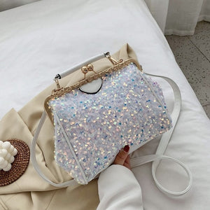 Fashion Sequins High Quality PU Leather Crossbody Bags For Women 2020 Summer  Shoulder Handbags And Purses Lady Cross Body Bag