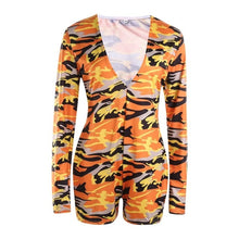 Load image into Gallery viewer, 2020 Hot Sale Women Sexy Stretchy Pajamas Long Sleeve V-Neck Pineapple Star Printed Bodycon Summer Lady Jumpsuit