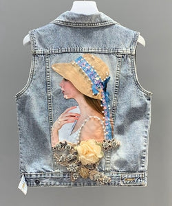 European Style Denim Jacket Women Fashion Heavy Embroidery Beaded Sequined Embroidered Flower Washing Water Jeans Denim Jackets