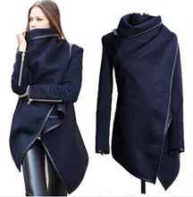 Load image into Gallery viewer, Women Trench Coats Long Cashmere Overcoats Trench Down Jackets Woman Wool Coats Fur Manteau Abrigos Mujer