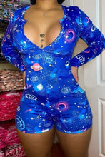 Load image into Gallery viewer, zodiac Summer Playsuit Pajama Romper Women's Lady Sexy Romper Bodycon Casual Jumpsuit Romper Shorts Leotard Home Wear Tracksuit