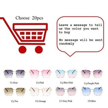 Load image into Gallery viewer, High Qulity Fashion Square Trimmed Lenses Sunglasses Women Ins Popular Wholesale Rimless Sun Glasses Female Men Eyewear UV400