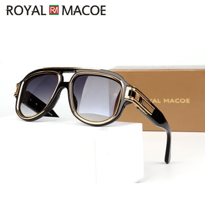 High Quality Men'S Fashion Luxury Brand Sunglasses Metal Square Frame Glasses For Women Men With Brand Case