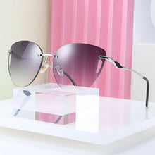 Load image into Gallery viewer, Cat eyes  Sunglasses Women Hollow Fashion No Frame High Quality Rimless Sun Glasses For Women Aaccessories UV Women ins Popular