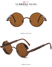 Load image into Gallery viewer, Metal Round Gothic Steampunk Sunglasses Men Women Fashion Glasses Brand Designer Retro Frame Vintage Sunglasses High Quality