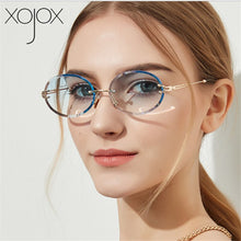 Load image into Gallery viewer, XojoX Oval Sunglasses Women Fashion Gradient Shades Rimless Sun Glasses Brand Design High Quality Transparent Eyeglasses UV400