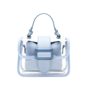 STIVEN JAMES PVC Clear Shoulder Bags for Women High Quality Chain Crossbody Handbag Mini Transparent Flap Bag Jelly Ladies Purse