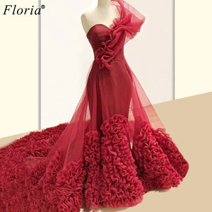 платье New Fashion Red Celebrity Dresses 2020 Sweetheart Red Carpet Runaway Dresses Party Kaftan Couture Vestidos De Fiesta