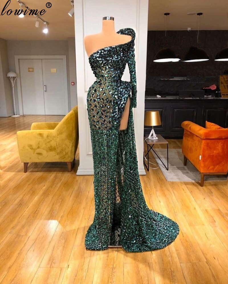 New Arrival Elegant Heavy Handmade Celebrity Dresses 2020 Illusion Beading Formal Occasion Dresses Women Party Night Dubai Robes