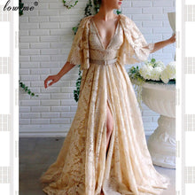 Load image into Gallery viewer, Caftan Couture Long Celebrity Dresses V-Neck Backless Grand Event Dresses Woman Party Night Fashion Photography Gowns Vestidos