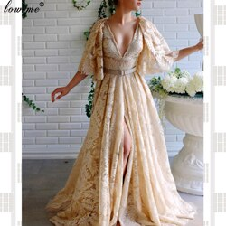 Caftan Couture Long Celebrity Dresses V-Neck Backless Grand Event Dresses Woman Party Night Fashion Photography Gowns Vestidos