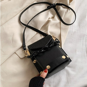 Phone Purses Summer Crossbody Bags For Women 2020 Trend High Quality Leather Luxury Designer Rivet Shoulder Bag Ladies Handbags