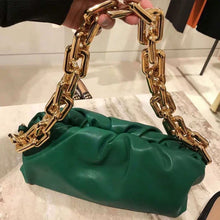 Load image into Gallery viewer, 2020 Summer Fold Bag Fashion Thick Chain Cloud Hand Shoulder Shoulder Armpit Bag High Quality Women Purse and Handbags Louis Bag