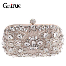 Load image into Gallery viewer, 2020 Evening Handbag Bags For Women Handmade Beaded Pearl Clutch Bag High Quality Wedding Purse Chain Shoulder Bag Feminina
