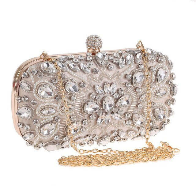 2020 Evening Handbag Bags For Women Handmade Beaded Pearl Clutch Bag High Quality Wedding Purse Chain Shoulder Bag Feminina