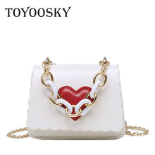 Load image into Gallery viewer, TOYOOSKY Designer Vintage Women's Handbags High Quality Female Shoulder Bags Girls Leather Purses Heart Women Crossbody Bag