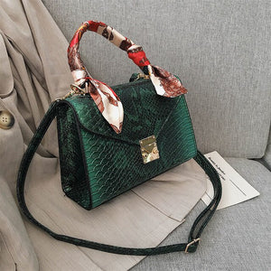 Brand Designer Python Black Purses and Handbags Crossbody For Women 2020 High Quality PU Leather Shoulder Messenger Bags Lock
