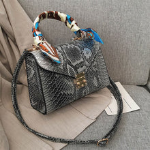 Load image into Gallery viewer, Brand Designer Python Black Purses and Handbags Crossbody For Women 2020 High Quality PU Leather Shoulder Messenger Bags Lock