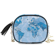 Load image into Gallery viewer, New Fashion Luxury map Chain Shoulder Bags Mini Crossbody Bags For Women Vintage High Quality zipper Handbags Tote Female Purse