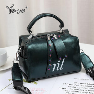 YBYT 2020 new fashion women handbags purse high quality shoulder crossbody bag designer PU leather female pillow top-handle bags