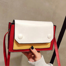 Load image into Gallery viewer, Fashion Patchwork Shoulder Bag Women Brand Small Crossbady Messenger Bags Female High Quality Leather Purse Handbags Ladies Sac