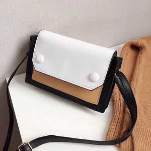 Fashion Patchwork Shoulder Bag Women Brand Small Crossbady Messenger Bags Female High Quality Leather Purse Handbags Ladies Sac