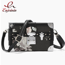 Load image into Gallery viewer, High Quality Box Design Flower Pattern Women Fashion Purses and Handbags Shoulder Chain Bag Female Party Clutch Bag Totes Pouch