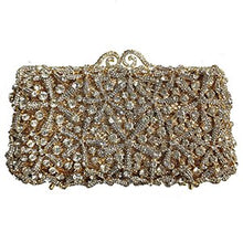 Load image into Gallery viewer, 2020 High-End Dark Green Gemstone Diamond Purse Fashion Women's Rhinestone Crystal Party Bag Snow Shape Female Shoulder Clutches