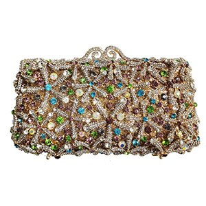 2020 High-End Dark Green Gemstone Diamond Purse Fashion Women's Rhinestone Crystal Party Bag Snow Shape Female Shoulder Clutches