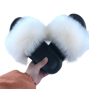 2020 Women Furry sandals Ladies Shoes Cute Plush Fluffy Sandals Women's Fur Outdoor slippers Warm Slippers Women Hot SALE