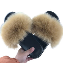 Load image into Gallery viewer, 2020 Women Furry sandals Ladies Shoes Cute Plush Fluffy Sandals Women's Fur Outdoor slippers Warm Slippers Women Hot SALE
